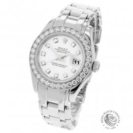 Rolex Ladies Pearlmaster White Gold