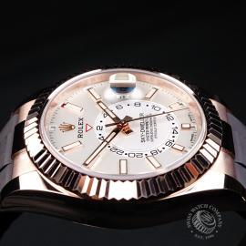 RO22155S Rolex Sky-Dweller Everose Unworn Close 6 3