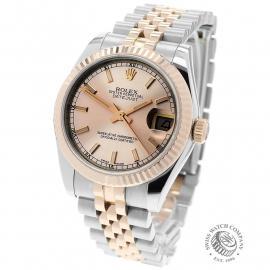 RO22635S Rolex Ladies Datejust Back