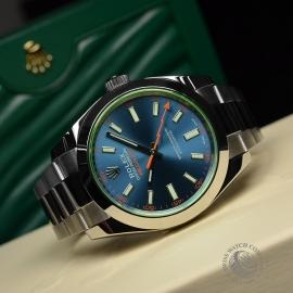 RO21189S Rolex Milgauss Anniversary - Green Glass Close10