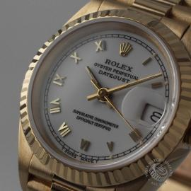 RO21030S Rolex Ladies Datejust 18ct Close1
