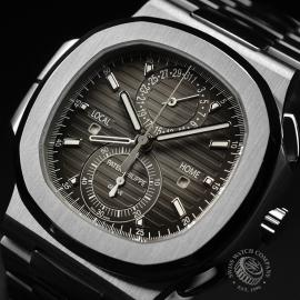 PA21109S Patek Philippe Nautilus Travel Time Chronograph Close2