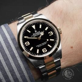 RO22464S Rolex Explorer 36 Bi-Metal Wrist