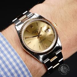 RO21991S Rolex Oyster Perpetual Date Wrist