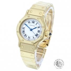 Cartier 18ct Santos Octagon