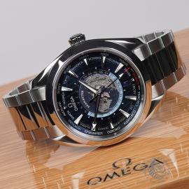 OM22669S Omega Seamaster Aquaterra Worldtime Close10