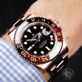 RO22050S Rolex GMT-Master II 18ct Everose Gold Wrist