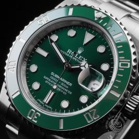 RO21645S Rolex Submariner Date Ceramic 'Hulk' 116610LV Close2