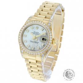 RO21016S Rolex Ladies Datejust 18ct Back