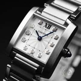 CA21054S Cartier Ladies Tank Francaise Small Model Close2 1