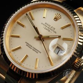 RO22533S Rolex Date 18ct Gold Close4