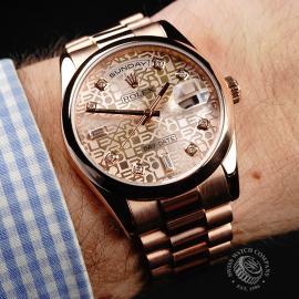 RO22196S Rolex Day-Date 36 Everose Wrist