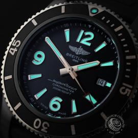 BR22775S Breitling Superocean 46 Blacksteel Close1