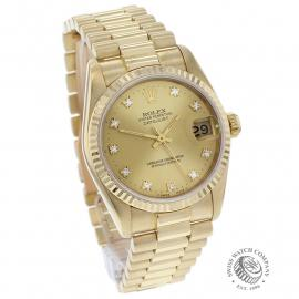 RO21949S Rolex Datejust 18ct Mid-Size Dial