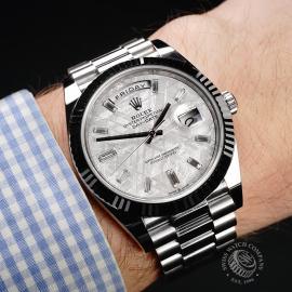 RO22245S Rolex Day-Date 40 Meteorite Unworn Wrist