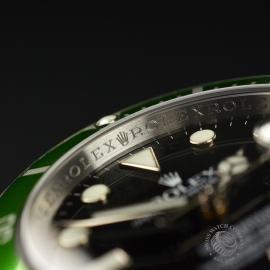 RO21193S Rolex Submariner Date Green Bezel Anniversary Close7