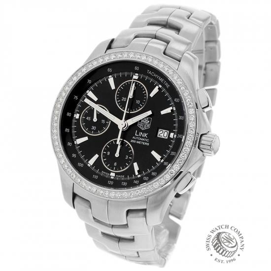 Tag Heuer Link Chronograph Diamond Set Bezel