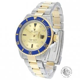 RO20657S Rolex Submariner Date Diamond and Sapphire Dial Back