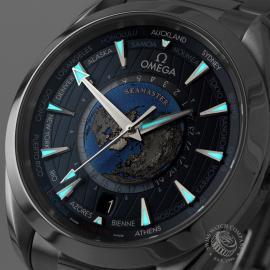 OM22669S Omega Seamaster Aquaterra Worldtime Close1
