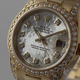 RO21016S Rolex Ladies Datejust 18ct Close1