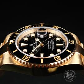 RO22317S Rolex Submariner Date 18ct Yellow Gold Close6