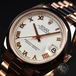 RO1852P Rolex Ladies Datejust 18ct Close2 1