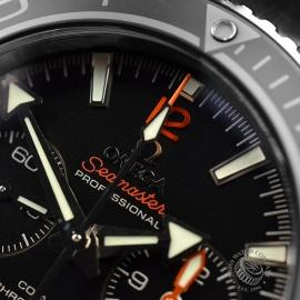 OM21024S Omega Seamaster Planet Ocean 600m Co Axial Chrono Close5