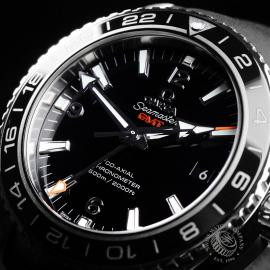 OM21785S Omega Seamaster Planet Ocean Co-Axial GMT Close2