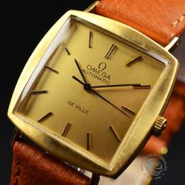 OM18522S Omega Vintage De Ville Automatic 18ct Close1