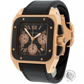 Cartier Santos 100 Chronograph Rose Gold