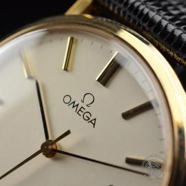 OM19632S Omega Vintage 9ct Gents Dress Watch Close5