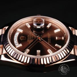 RO221147S Rolex Day-Date 40 Everose Diamond Close6