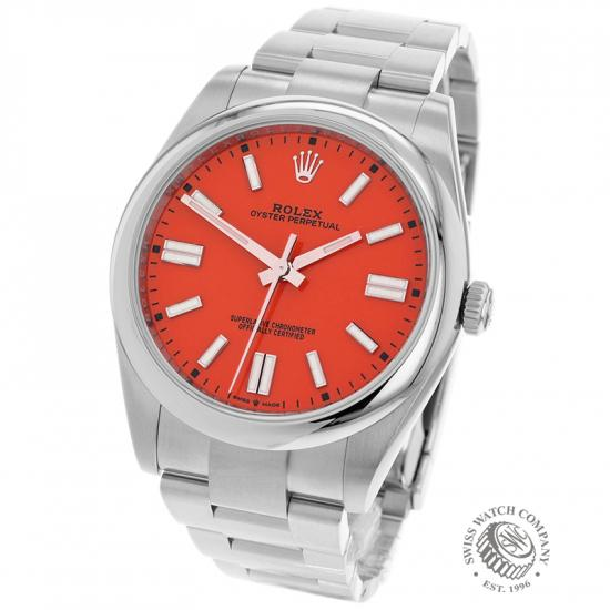 Rolex Oyster Perpetual 41 Coral Red Unworn