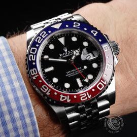 RO22120S Rolex GMT Master II BLRO Wrist