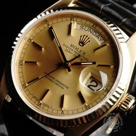 RO21796S Rolex Vintage Day-Date 18ct Close2