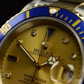 RO20657S Rolex Submariner Date Diamond and Sapphire Dial Close4