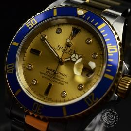 RO20657S Rolex Submariner Date Diamond and Sapphire Dial Close1