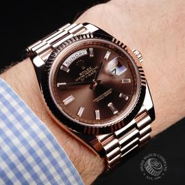 RO221147S Rolex Day-Date 40 Everose Diamond Wrist