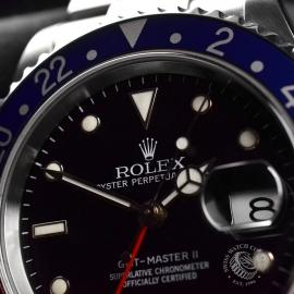 RO20324S Rolex GMT Master II - Stick Dial Close8