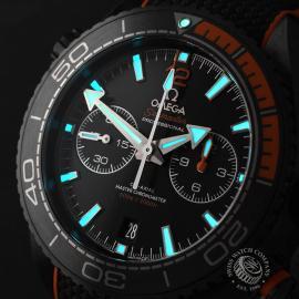 OM22262S Omega Seamaster Planet Ocean Chronograph 'Deep Black' Close1