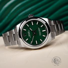 RO22096S Rolex Ladies Oyster Perpetual Unworn Close11