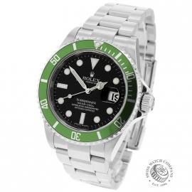 RO21193S Rolex Submariner Date Green Bezel Anniversary Back