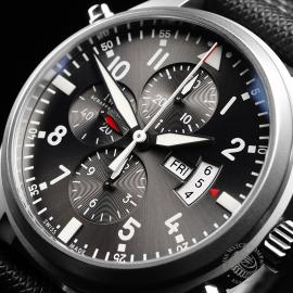 IW21828S IWC Pilots Double Chronograph 'Partouille Suisee'  Close2
