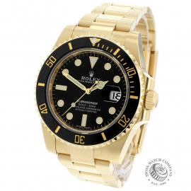 RO22317S Rolex Submariner Date 18ct Yellow Gold Back