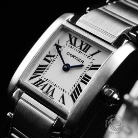 CA22133S Cartier Ladies Tank Francaise Small Model Close2
