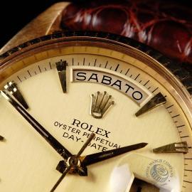 RO645F Rolex Day Date 18ct Close 3