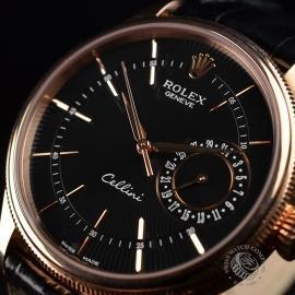 21396S Rolex Cellini Date 18ct Everose Close2 3