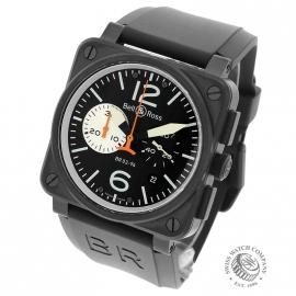 16826S Bell & Ross BR 03-94 Chronograph Black and White Back
