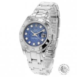 Rolex Ladies Datejust Pearlmaster 18ct White Gold