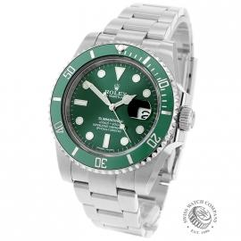 RO21728S Rolex Submariner Date Ceramic 'Hulk' Back